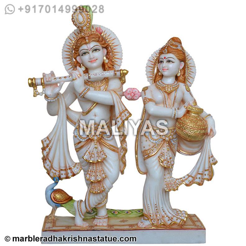 Radha Krishna Statue Online Marble Krishna Statue