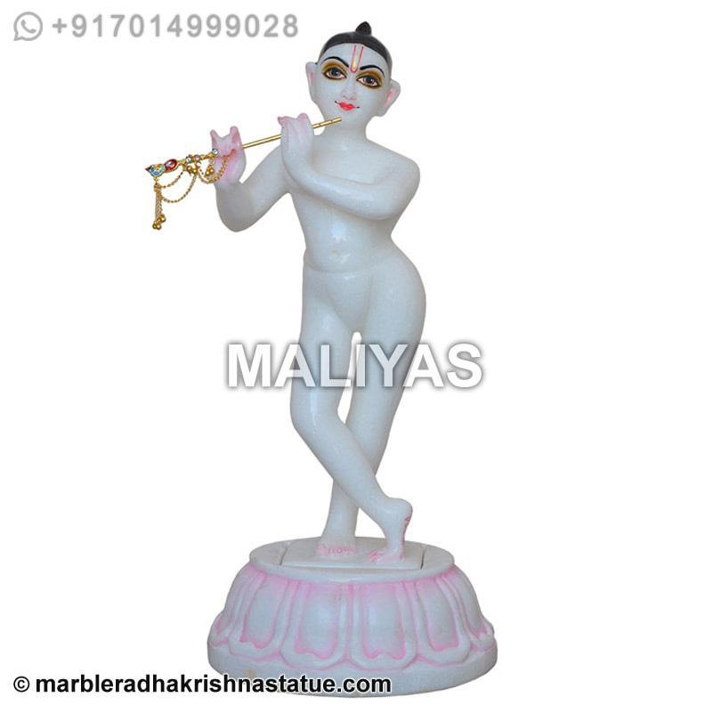White Marble Iskcon Krishna Murti Door Delivery Iskcon