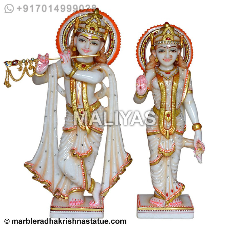 White Marble Radha Krishna Statue Radha Krishna Idols