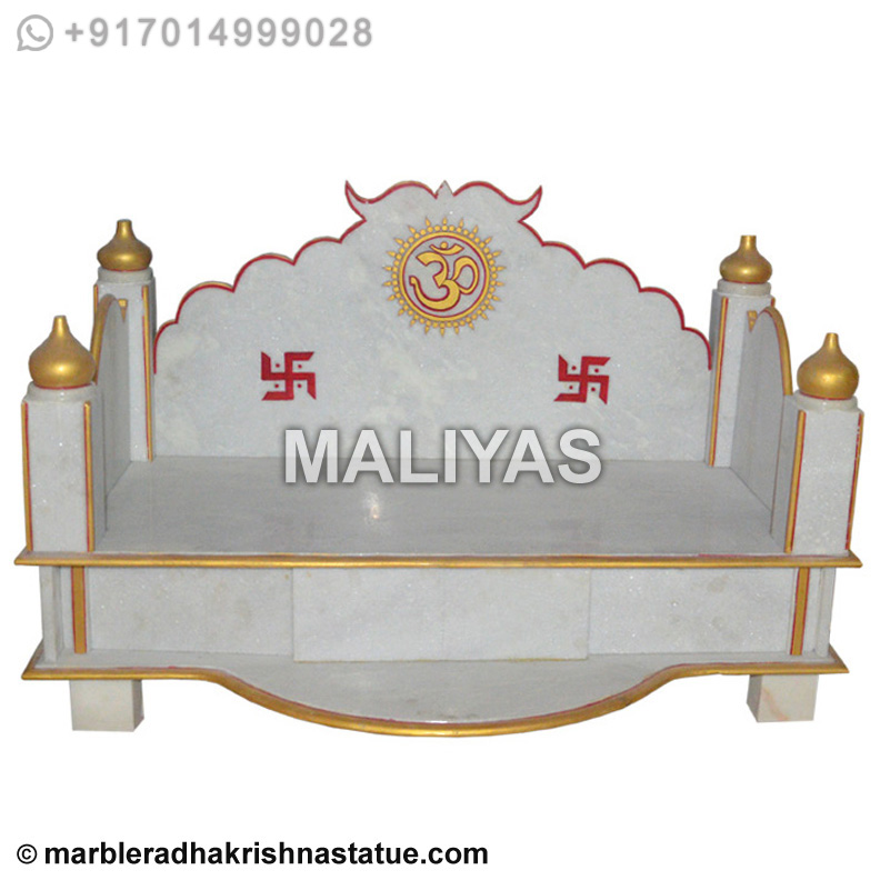 White Marble Singhasan Marble Singhasan For Murtis