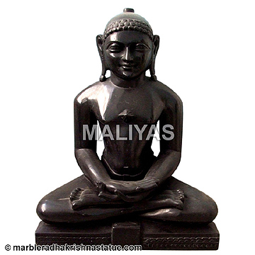 Black Marble Mahavir Swami Idol