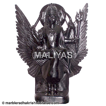 Shanidev Marble Statue