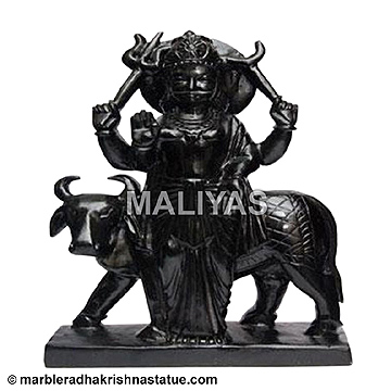 Marble Standing Shani Statue
