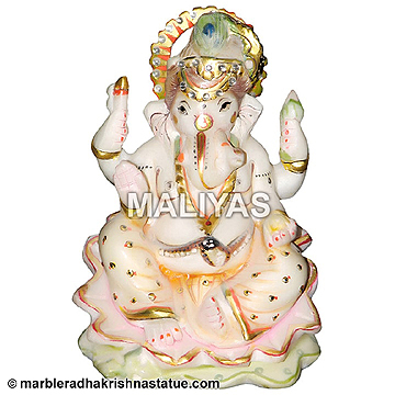 Marble Small Ganesha Statue