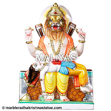 Marble Lord Narsingh Statue