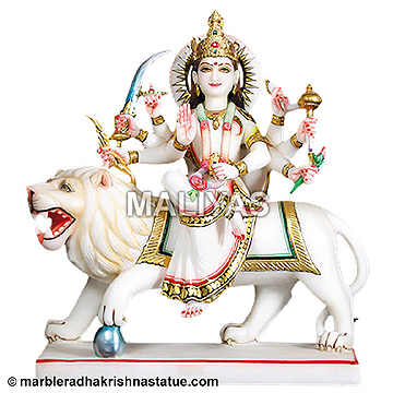 Durga Ji With Stone Work Statues